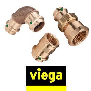 Фитинги бронзовые VIEGA SanPress для медных труб, пресс соединение