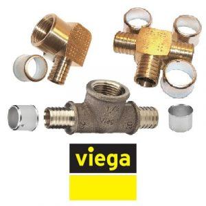 Пресс-фитинги бронзовые VIEGA Pexfit PRO серия 4700 для PE‑Xc/Al/PE‑Xc труб