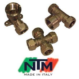 Фитинги NTM серия 200 компрессионные для медных труб