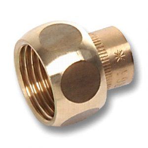 Муфта с накидной гайкой торцевой, бронза, соединение под пайку/ВРезьба, SANHA, артикул 4359g