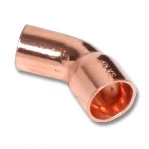 Отвод 45⁰ однораструбный, медь, соединение под пайку, SANHA, артикул 5040