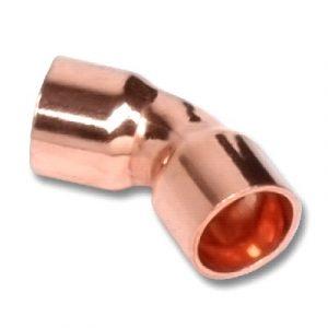 Отвод 45⁰ двухраструбный, медь, соединение под пайку, SANHA, артикул 5041