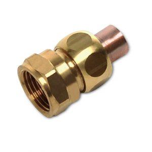 Соединение резьбовое коническое, медь/латунь, соединение пайка/внутренняя резьба, SANHA, артикул 5340g